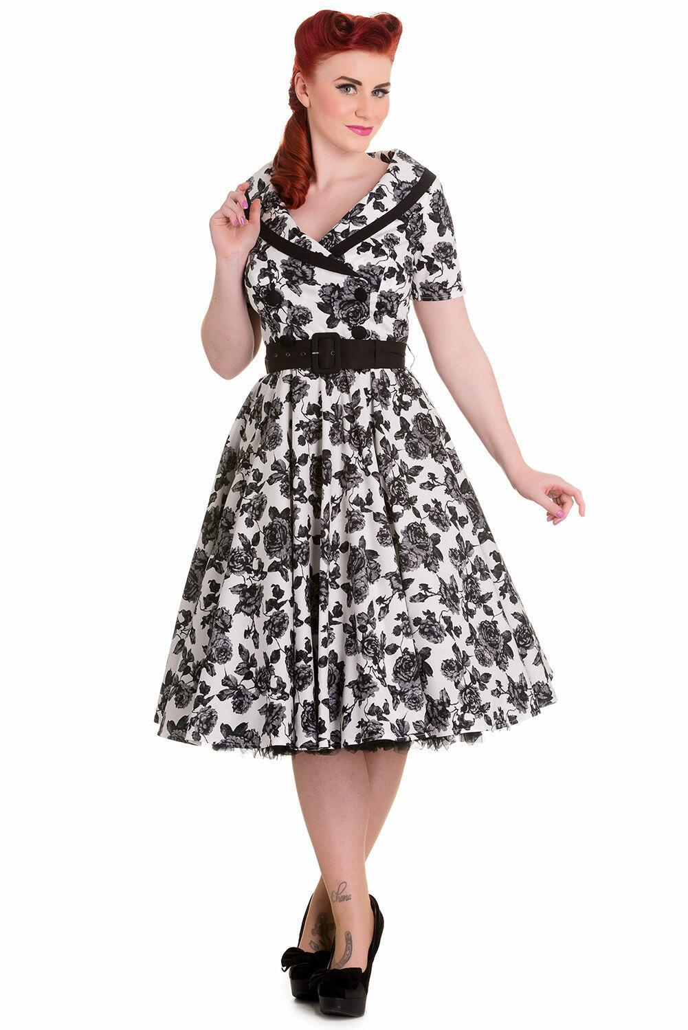 511e357b556c Buy Hvid kjole med roser - Offer   67.29