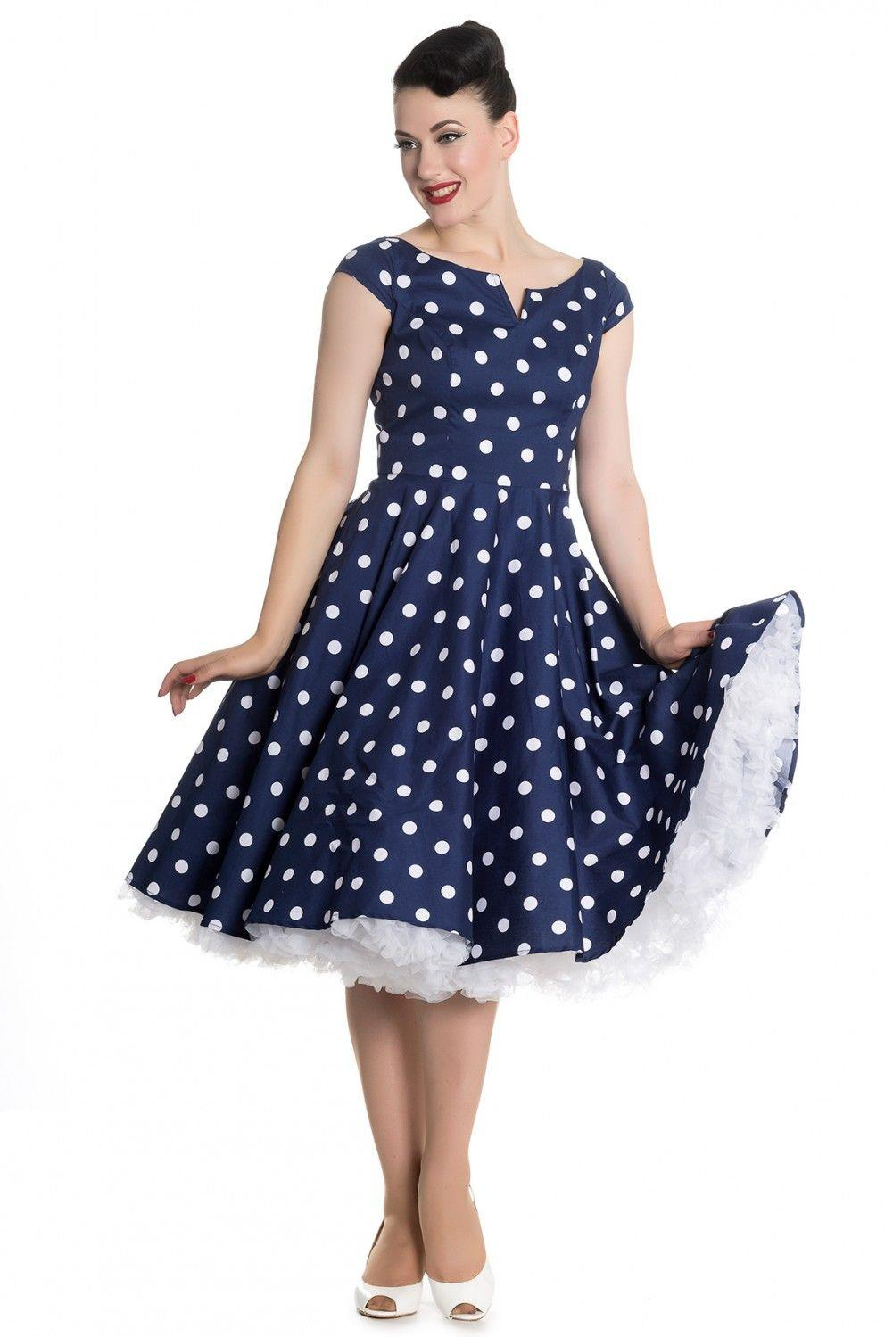 96d3ed98c7fc Køb Anni 50er mørkeblå kjole - Price  499