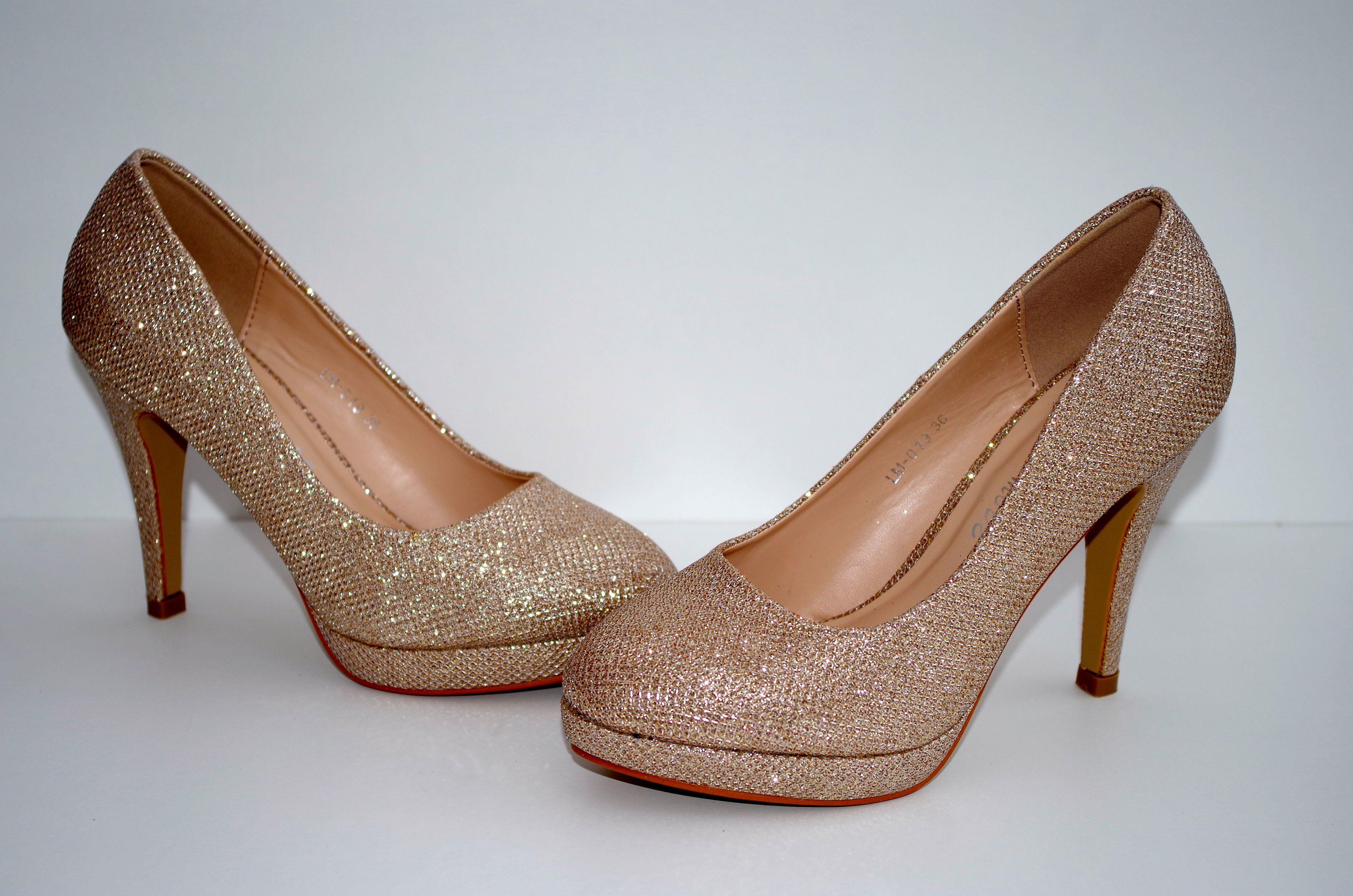 8cf0d1f4a11a Køb Guld sko med glimmer - Price  150
