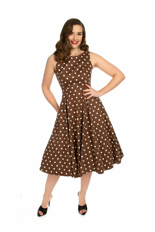 Cindy Polka Dot Swing Kjole