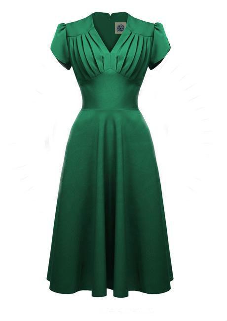 grøn festkjole