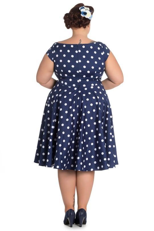 3a64ea3bf18c Køb Anni 50er mørkeblå kjole + Size - Price  499