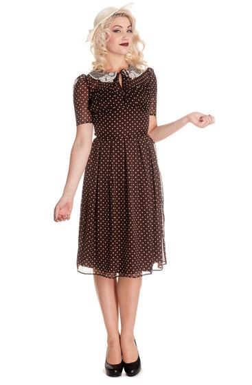 Polka Dot Dress - Brown