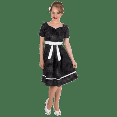 sort kjole med hvid krave